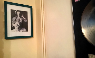 framed David Bowie wall pic