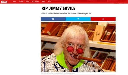 RIP Jimmy Savile The Sun