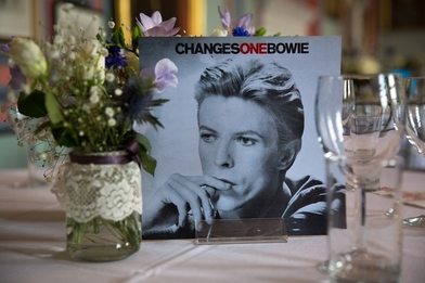 David Bowie wedding table Changes